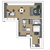 Project Herentals Netezicht appartement 1-2