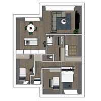 Project Herentals Netezicht appartement 1-3