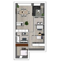 Project Herentals Netezicht appartement 0-2